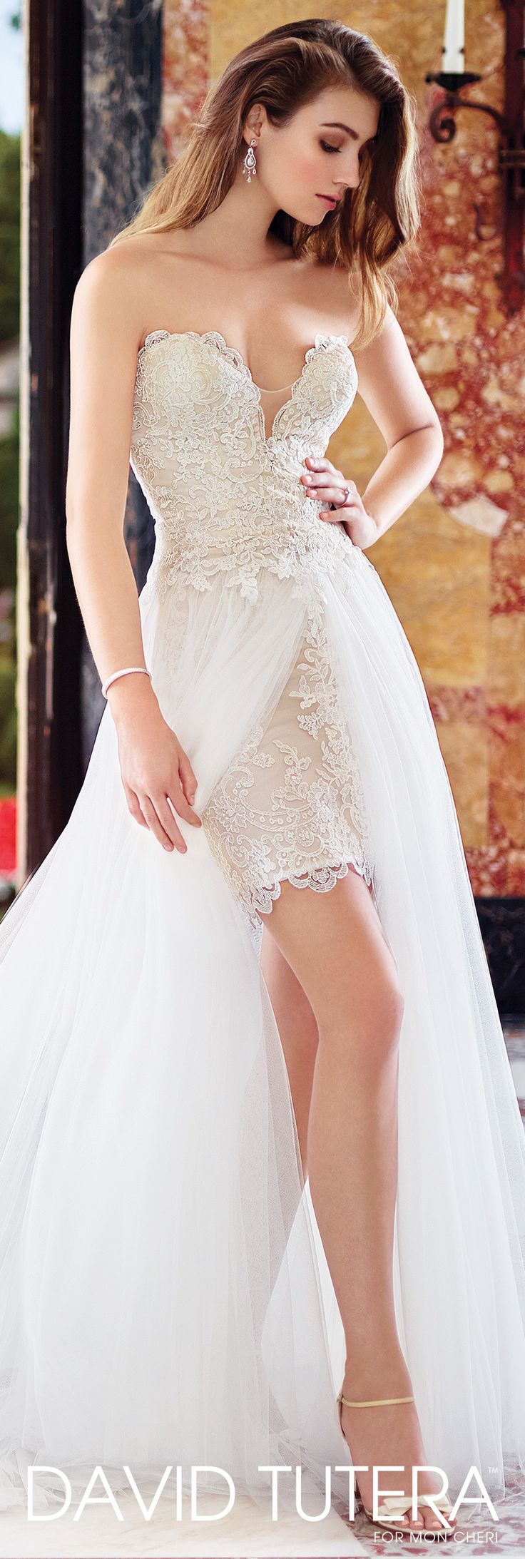David Tutera for Mon Cheri - 117265 Lyra - Two-piece wedding dress set. Love this unique piece!