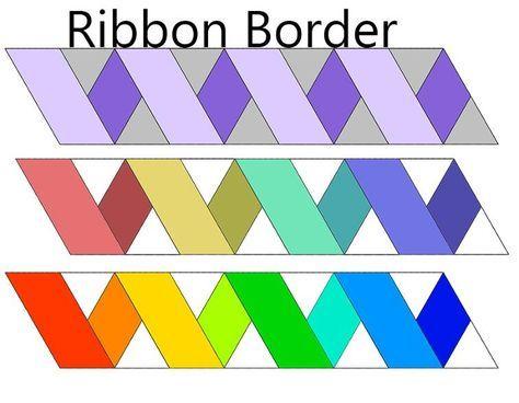 Free Quilt Pattern Ribbon Border Quilt Patterns Free
