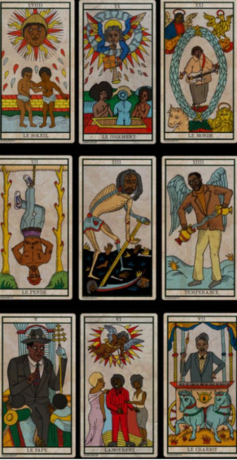 'The Black Power Tarot': Beautifully illustrated tarot deck with Sun Ra, Richard Pryor and more! | Dangerous Minds