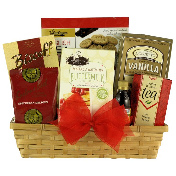 Great Arrivals Rise and Shine Gourmet Breakfast Gift Basket, Red