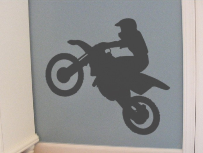Bicycle Vinyl Wall Decal Bike Sticker Office wall art Biking decor