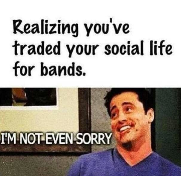 No word of a lie, this is ACTUALLY true about me!!! I am literally ALWAYS listening to music and talking about bands, then my 'friends' say that I'm unsociable... ... To be honest, I couldn't care less!!! I'm happy when I'm listening to music, pretty much all my 'friends' do is talk about stuff that isn't even funny, keep secrets from me and treat me like dirt and they expect me to to talk to them!?! Why should I!?