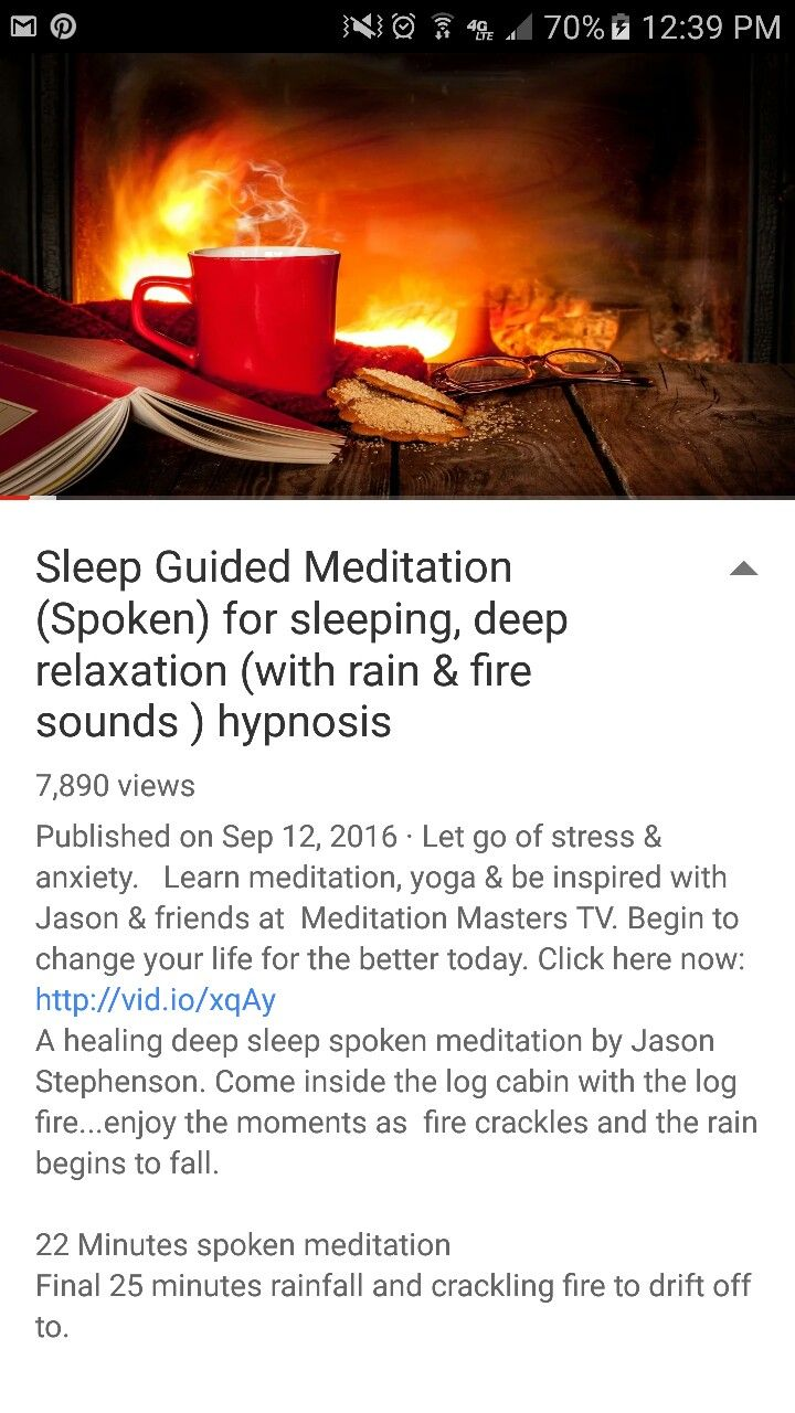 Sleep Guided Meditation (Spoken) for sleeping, deep relaxation (with rain & fire sounds ) hypnosis with Jason Stephenson  on YouTube