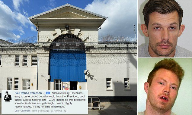 Brazen inmates are leaving reviews of Britain's PRISONS online