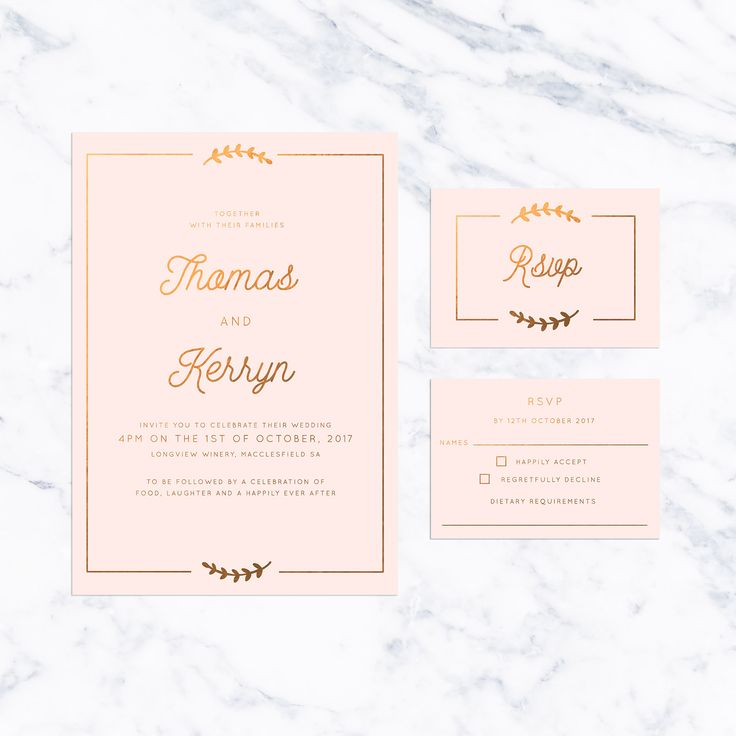 Olive Branch Border Blush and Bronze Foil Wedding Invitations featuring a simple olive branch and border on gorgeous peach blush with stunning bronze foil. Pastel Wedding Invitations blush pink pale pink mint green pale blue Floral Pastel Wedding Invitations Rainbow Pastel Wedding Invitations Ombre Pastel Wedding Invitations elegant chic Pastel Wedding Invitations Stylish Pastel Wedding Invitations