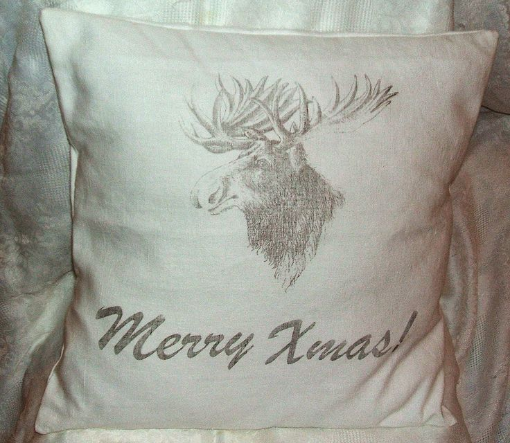 Merry Xmas pillow with rendeer