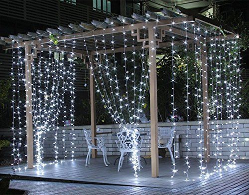 White LED Curtain Lights Wedding Festival String Curtain Christmas Party LEDs