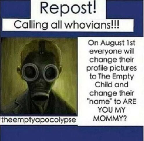 """Must do!! O_O (although, I think I""""ll just post the """"are you my mummy"""" as a status rather than change my name :) )"""