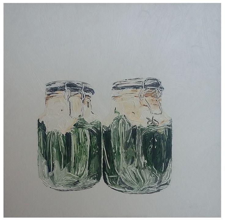 Oldi's Portfolio - 2015  #oldiart #oil #canvas #painting #leavened #cucumber