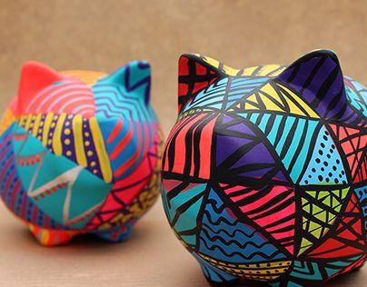 Chanchitos pintados a mano - Handmade piggy banks