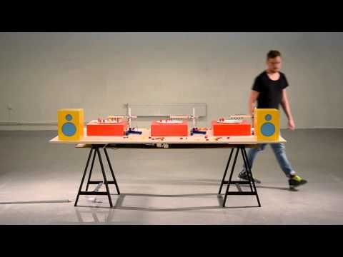 Beat Blox is a clever system for creating beats developed by Swedish designer Per Holmquist that utilizes small blocks placed on a turntable. The faux record...