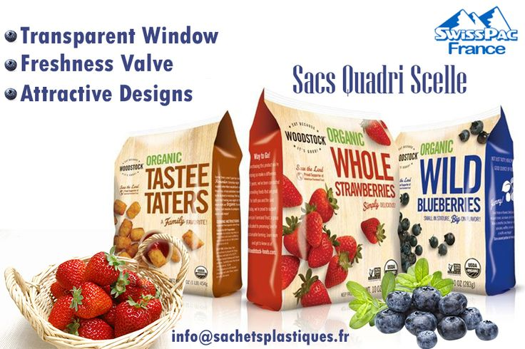 Our #Pouch is specially #Sealed on all #4SidesBags give Appropriate Size and Large space that can hold your product. #QuadSealed #Packaging offer good visibility and attracts buyer's attention. Shop at http://www.sachetsplastiques.fr/produits/sacs-quadri-scelle/