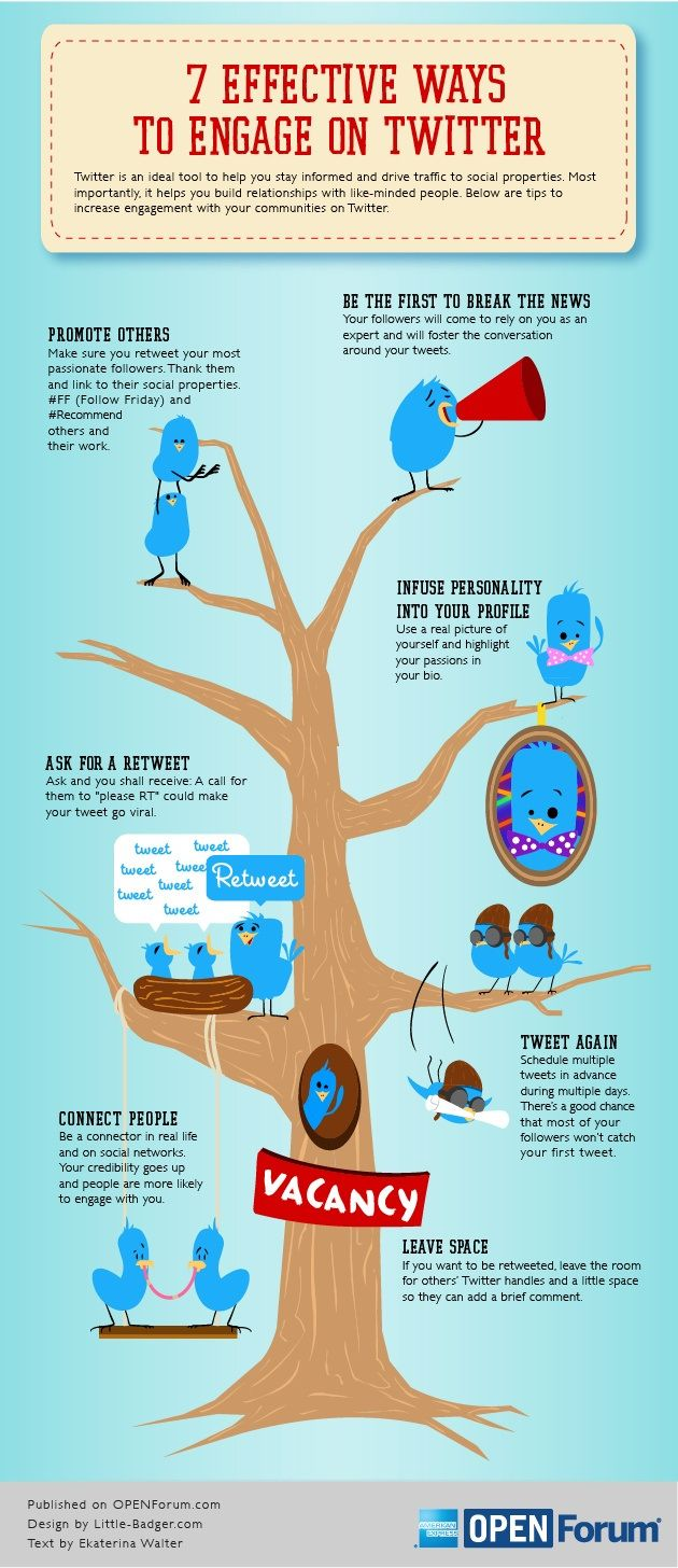 7 effective ways to engage on Twitter #infografia #infographic #socialmedia