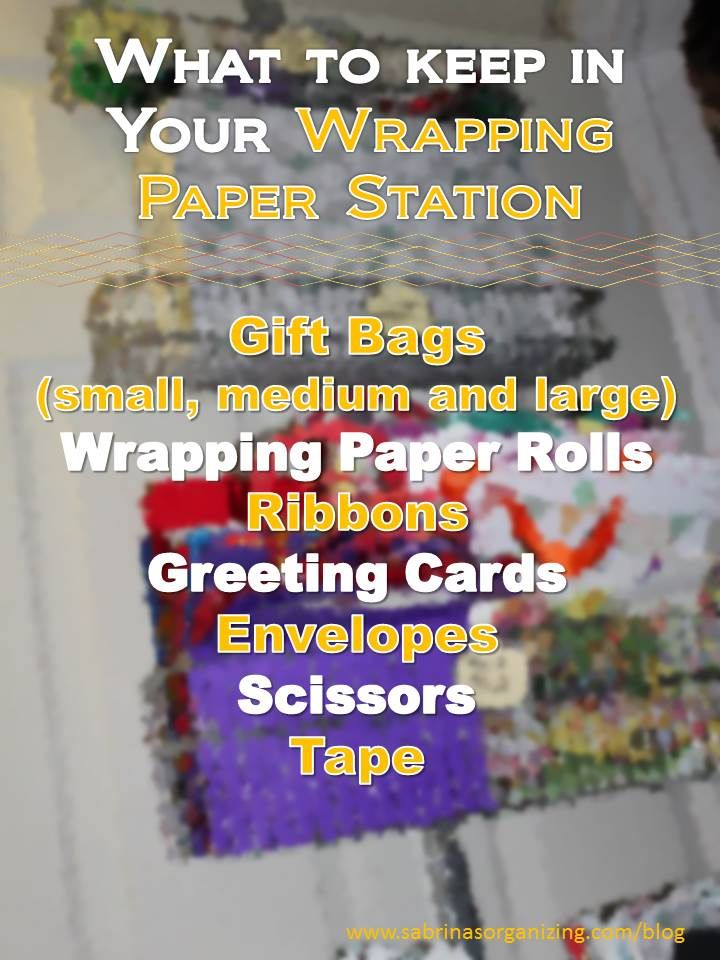What to Keep: In Your Wrapping Paper Station