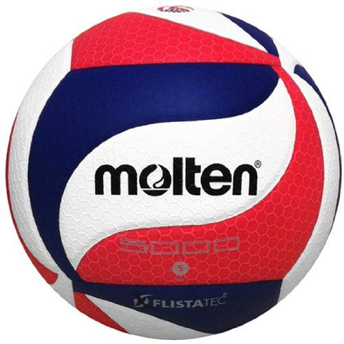 Molten FLISTATEC Volleyball - Official Volleyball of USA Volleyball, Red/White/Blue