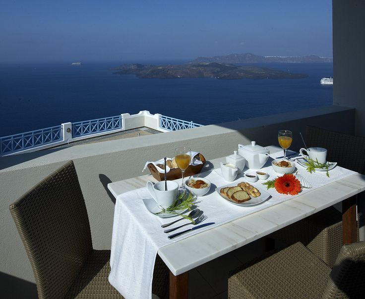 Good morning! Kickstart your day with the Volcano View Hotel Santorini rich, healthy and delicious #breakfast! Paramount highlight: It can be served in the privacy of your own terrace or balcony with breathtaking #views!  http://www.volcano-view.com/santorini_breakfast/