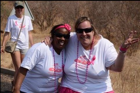 Showing support for Kasane Breast Cancer Awareness Walk -- 235 walkers