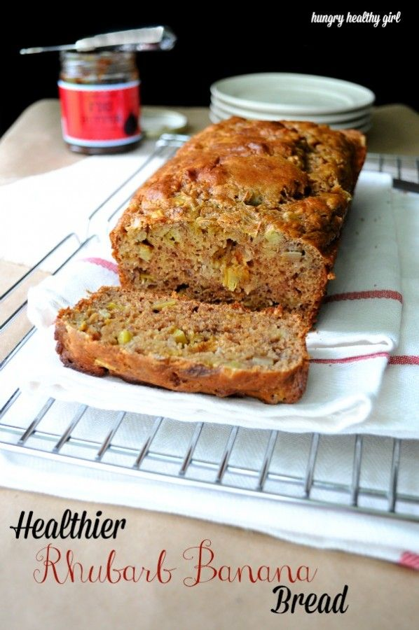 Rhubarb Banana Bread