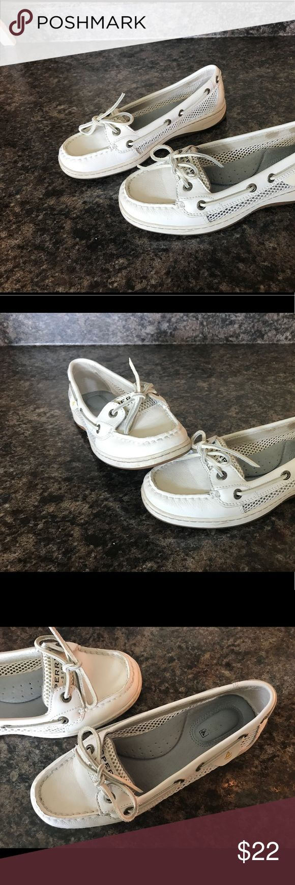 Sperry Top Sider Angelfish Mesh Leather Boat Shoe Women sz: 6.5 - gently used condition Sperry Top-Sider Shoes Flats & Loafers