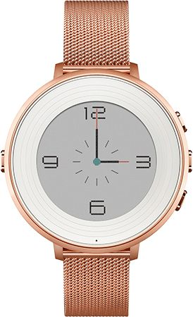 Pebble Time Round Rose Gold with Rose Gold Mesh
