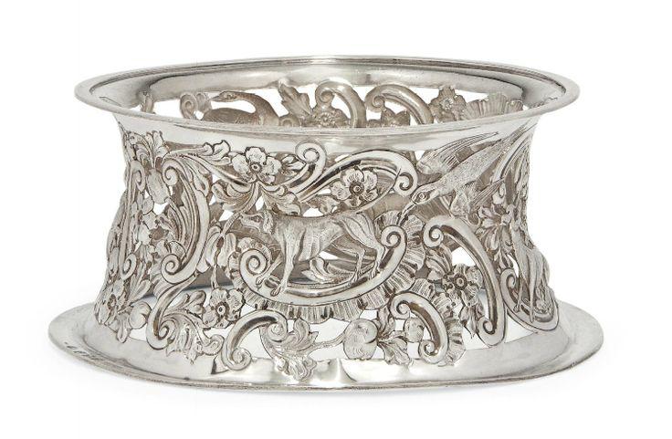 An Edwardian Irish Silver Dish Ring Of Mid 18th Century