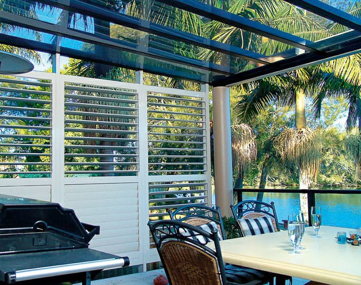 Outdoor privacy shutters can be opened to suit. www.openshutters.com.au