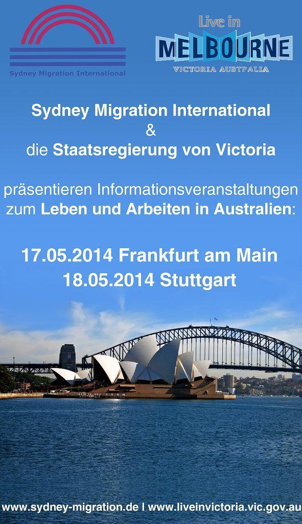 Leben und Arbeiten in Australien - Auswandern Australien - Visum Australien - Seminare mit der Staatsregierung Victoria