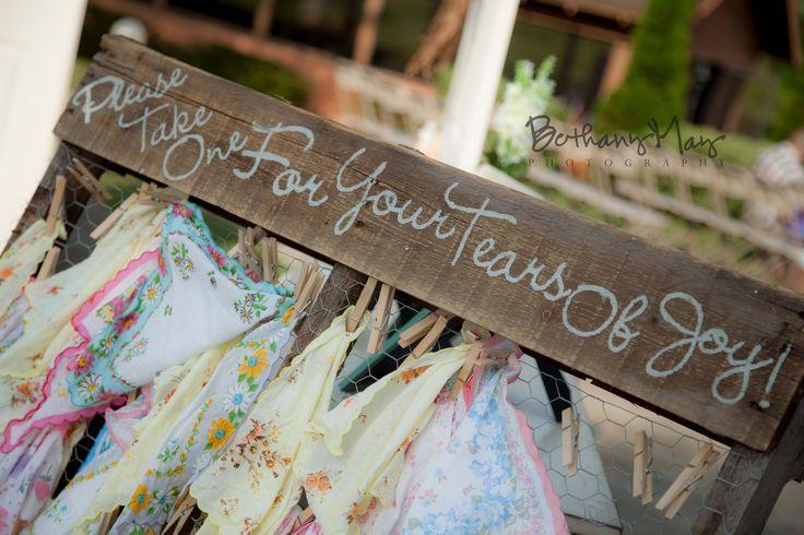 Vintage Wedding Favor Ideas Pinterest : Vintage Wedding Favor Ideas: handkerchief for guests tears. Bethany ...