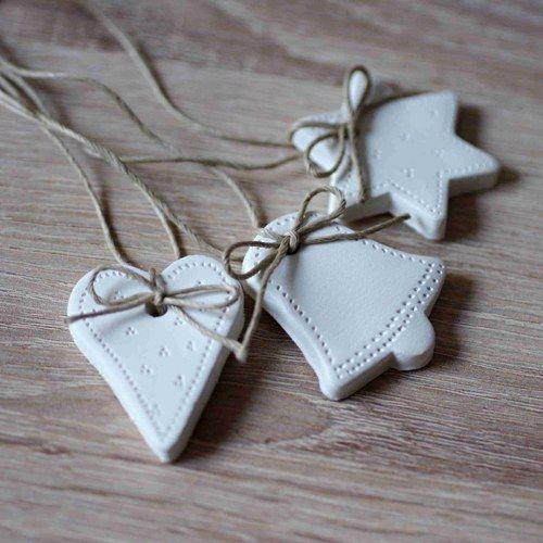 Vánoční ozdoby - přírodní stuha