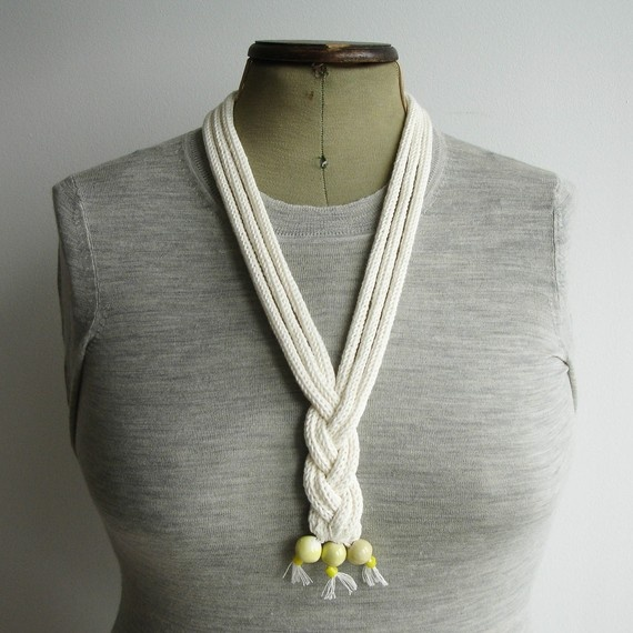 Macra Knitted Cord Necklace
