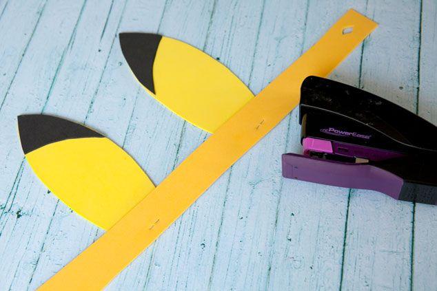 DIY Pikachu ears Pokemon party craft
