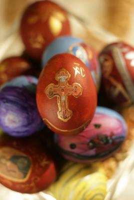 Red, the predominant color of Bulgarian Easter eggs, is a part of pagan mysticism that pervades Bulgarian culture even today. Red Easter eggs are baked into an Easter loaf, may be blessed at the church, or may be cracked against each other to see who will be the most successful, healthy, or happy during the following year.