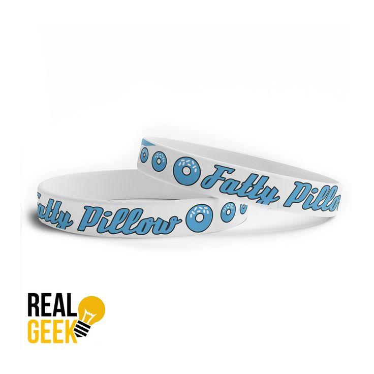 Fatty Pillow modrý silikonový náramek