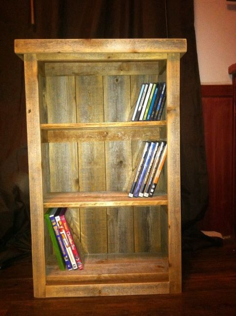 """Rustic bookcase -hand crafted wooden 30""""x25""""x7.75""""deep DVD/Bookcase Rustic Cabinet on Etsy, $90.00"""