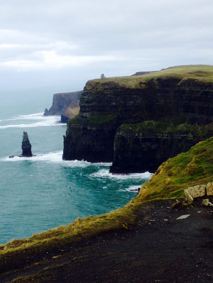 The cliff in Ireland