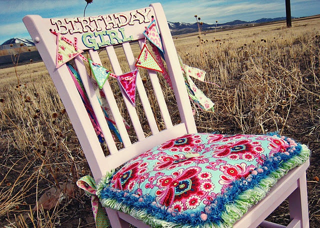 Birthday girl chair.