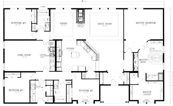 The 25 best barndominium floor plans ideas on pinterest for 40x50 shop cost