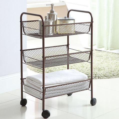 Bathroom Storage Neu Home 3 Tier Rolling Cart Oil Rub Bronze Rolling Carts Pinterest