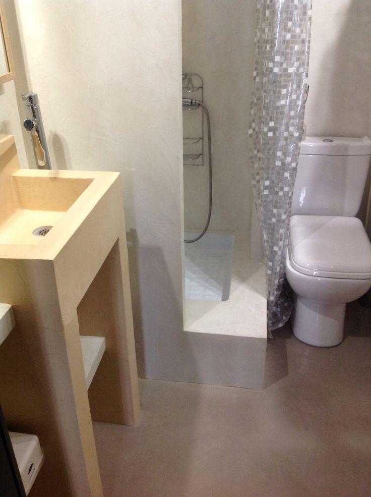 36 best BCC - Mes Salles de Bains en béton ciré images on Pinterest - enduit salle de bain
