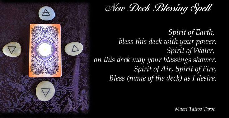 New Tarot Deck Blessing Spell, by Maori Tattoo Tarot
