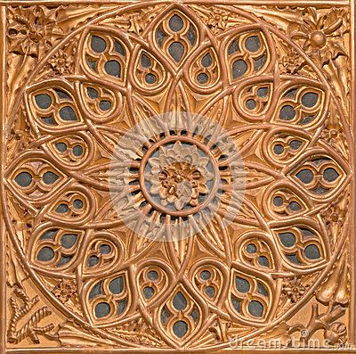 AVILA, SPAIN, APRIL - 19, 2016: The carved polychrome rosette in church of Real monasterio de Santo Tomas by unknown artist