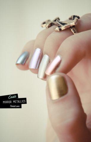I love the whole line of Essie metallic nail polish