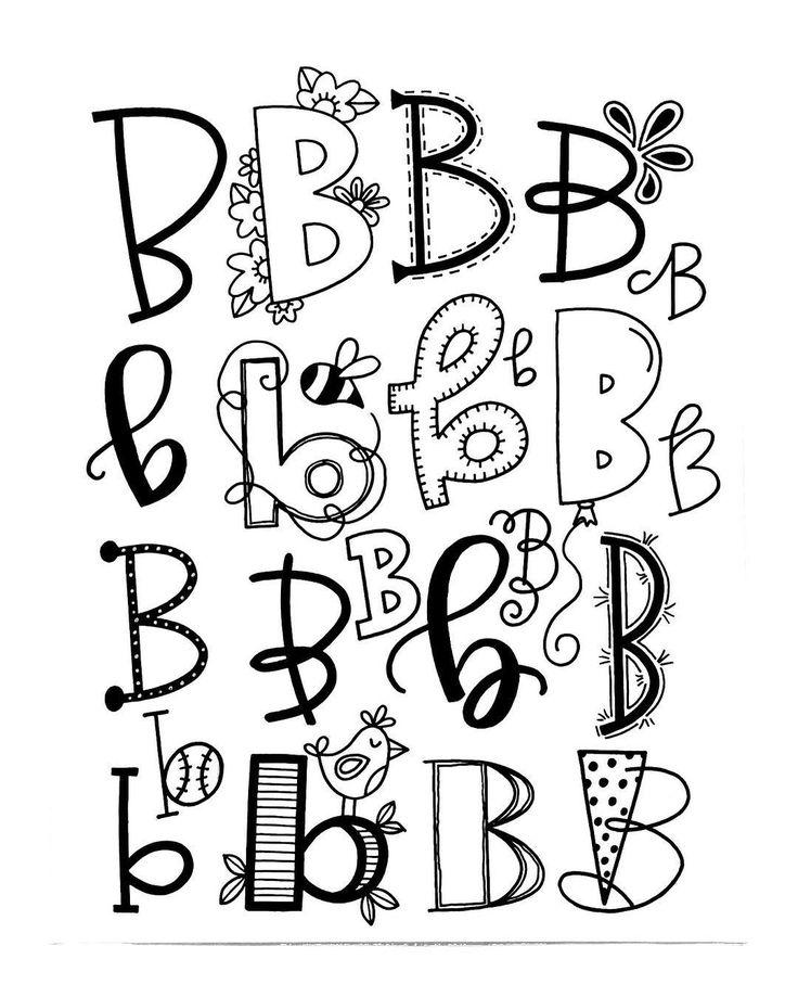 Buchstabe B - verschiedene Varianten zum Lettern
