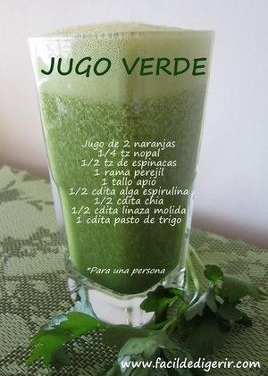 Jugo Verde, excelente detoxicante  'Green Juice' Great Detox    Cocina y Comparte  © Fotógrafo: Ana de www.facildedigerir.com