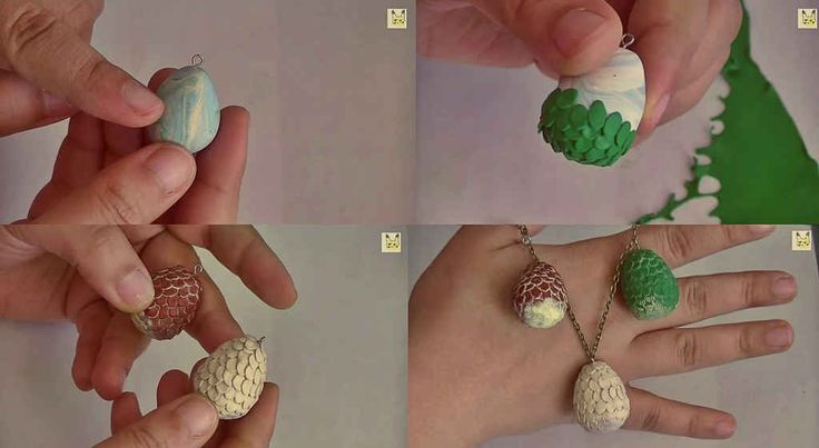 Feel like a total Khaleesi wearing this easy Game of Thrones dragon eggs necklace.