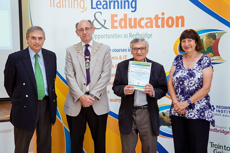 Sami Kasparian, pictured with Christine Poultney from the WEA, was  was awarded Ilford WEA's local learner award