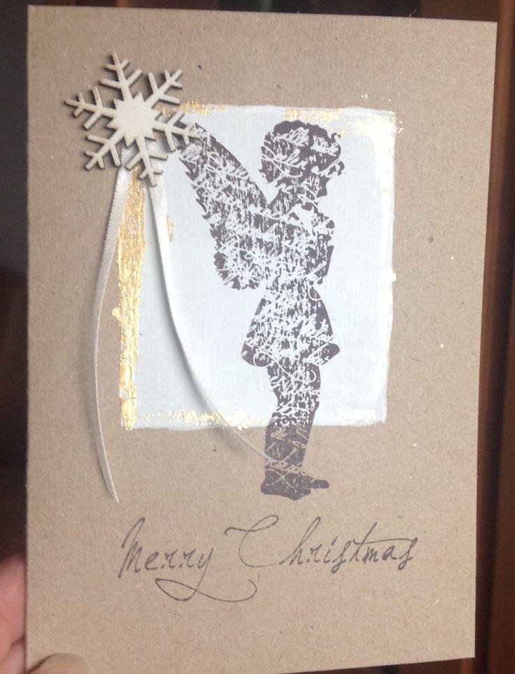 Stempel engel und schrift alexandra renke meine weihnachtskarten pinterest - Pinterest weihnachtskarten ...