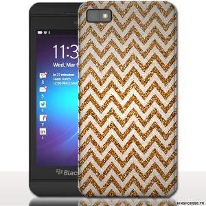 Coque Blackberry z10 ZigZag Gold - Housse rigide pour téléphone portable. #Z10 #BlackBerry #Gold #ZigZag