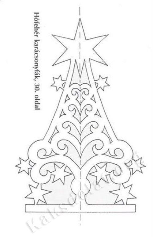 Decorações de Natal feita de papel