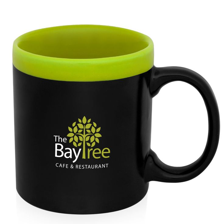 Custom coffee mugs printed with your logo. These two tone glam coffee mugs with matte finish are great promotional products for business giveaways and more.